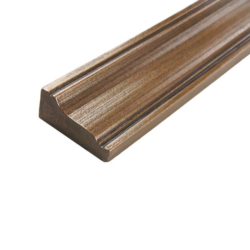 Milton 12 X 2 Metal Counter Rail Tile Trim In Piazza Bronze