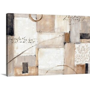 'Abstract Balance I' by Lisa Audit Painting Print on Wrapped Canvas by Great Big Canvas
