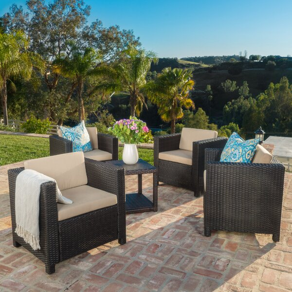 Ballew Club Chair with Cushion (Set of 4) by Wade Logan