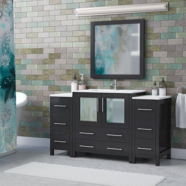 Karson 54 Single Bathroom Vanity Set with Mirror by Wade Logan