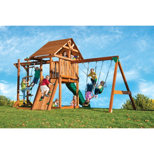 Redwood Circus 4 Swing Set by Kids Creations