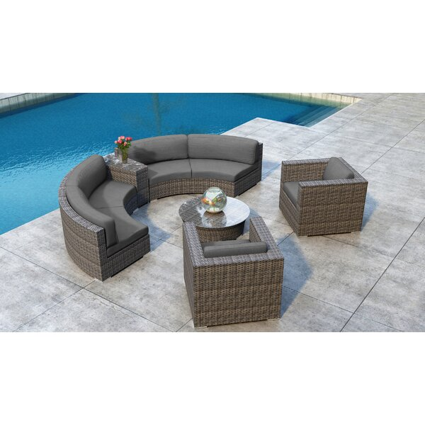 Gilleland 6 Piece Sectional Seating Group with Sunbrella Cushion by Orren Ellis