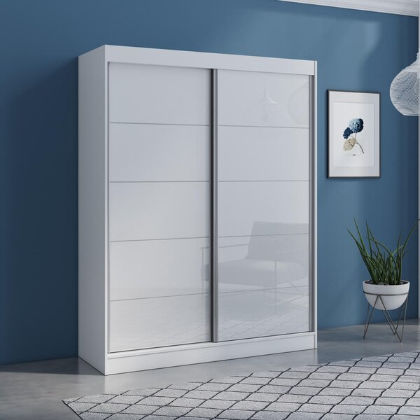 Neillsville 2 Door Modern High Gloss Armoire By Orren Ellis by Orren Ellis Best Choices