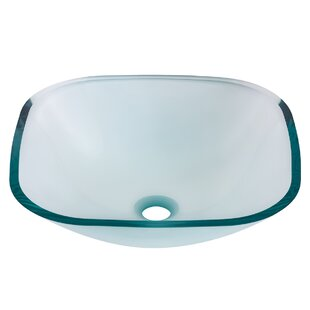 Find Piazza Glass Square Vessel Bathroom Sink By Novatto