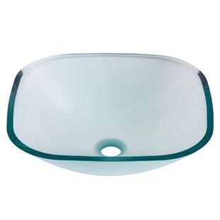 Price comparison Piazza Glass Square Vessel Bathroom Sink By Novatto