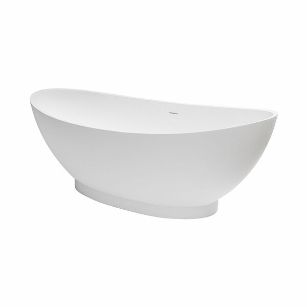 Brooks Solid Surface 70 x 35 Freestanding Soaking Bathtub by Maykke