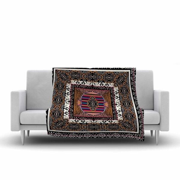 Victoria Krupp Tibet Mandala Illustration Fleece Throw by East Urban Home