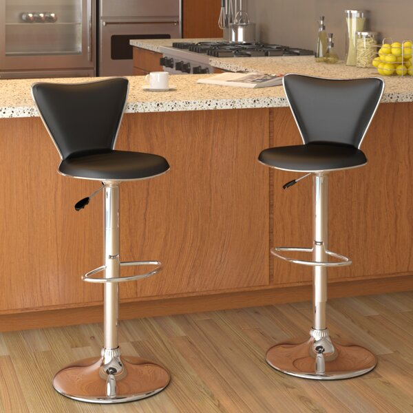 Honea Adjustable Height Swivel Bar Stool (Set of 2) by Brayden Studio
