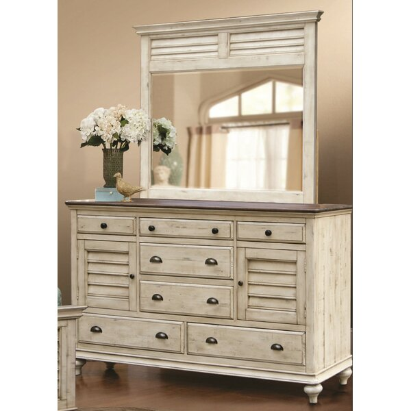 Kennington 7 Drawer Combo Dresser with Mirror by Gracie Oaks