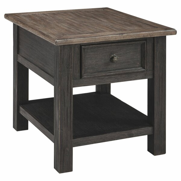 Colman Solid Wood End Table With Storage By Foundry Select