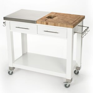 Kitchen Island 18 Deep stainless steel kitchen islands & carts you'll love | wayfair