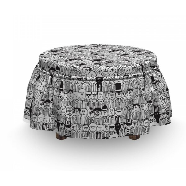 Comic Funny Rabbits Ottoman Slipcover (Set Of 2) By East Urban Home