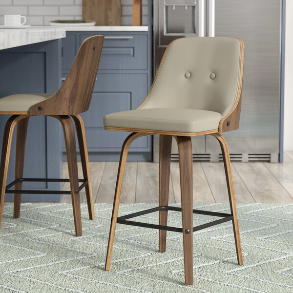 Alexa Counter 26.25 Swivel Bar Stool by Langley Street