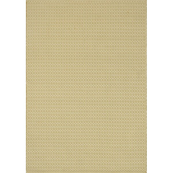 Kirchoff Hand-Woven Gold Indoor/Outdoor Area Rug by Charlton Home
