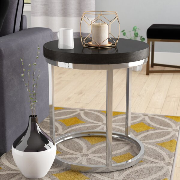 Turner Pedestal End Table By Ivy Bronx