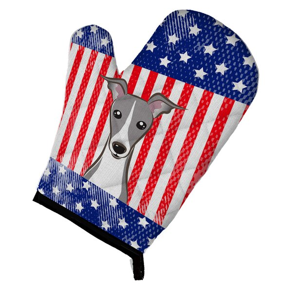 American Flag and Italian Greyhound Oven Mitt by Caroline's Treasures