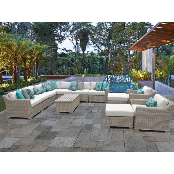 Claire 13 Piece Sectional Seating Group with Cushions by Rosecliff Heights