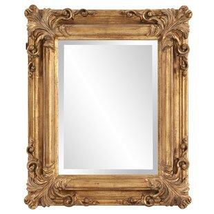 Astoria Grand Rectangle Bright Gold Wall Mirror