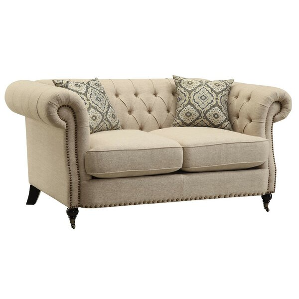 Carleen Transitional Loveseat by Darby Home Co