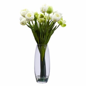 Tulip with Vase Silk Floral Arrangements