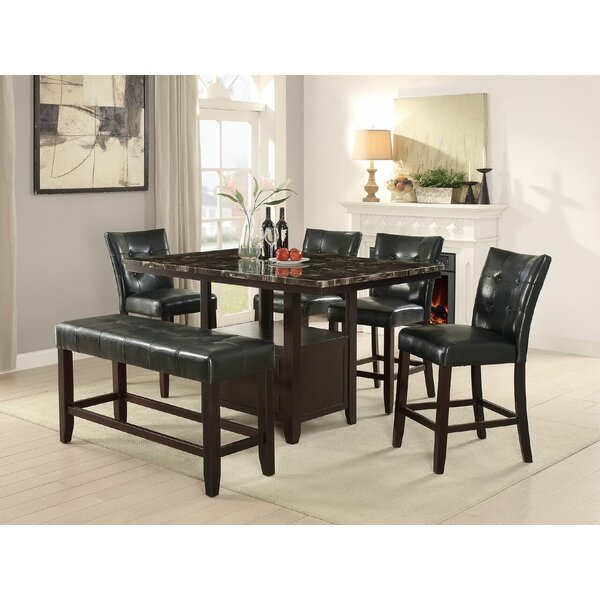 Upper Strode 6 Piece Dining Set by Winston Porter