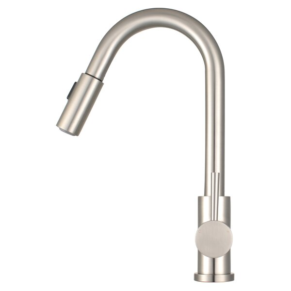 Morgana Pull Down Single Handle Kitchen Faucet by Eisen Home
