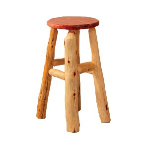 Sylvan Cedar 24 Log Bar Stool by Millwood Pines