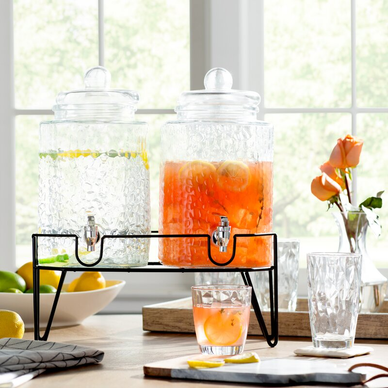 Peony 2-Piece Beverage Dispenser Set