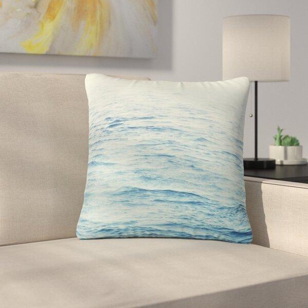 Debbra Obertanec Foggy Morning Ocean Coastal Outdoor Throw Pillow by East Urban Home
