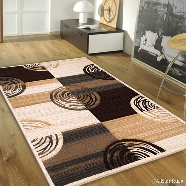 Champagne/Brown Area Rug by AllStar Rugs