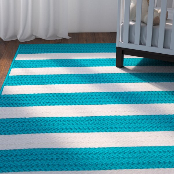Georg Turquoise Indoor/Outdoor Area Rug by Viv + Rae