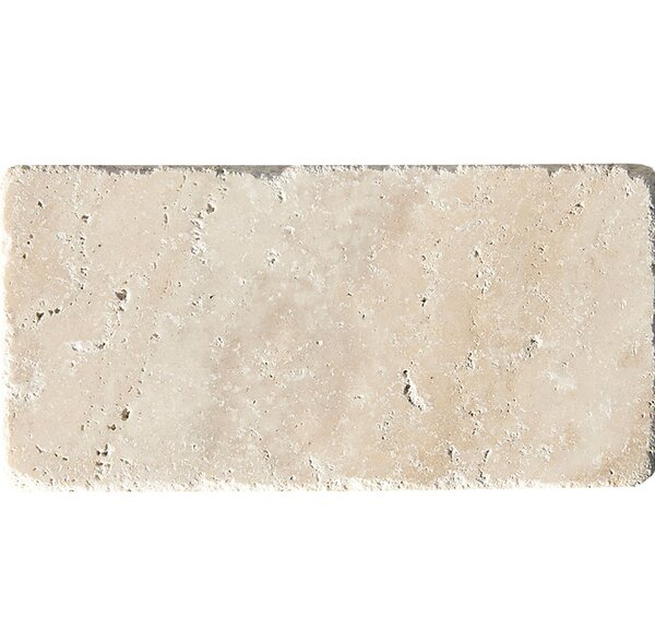 Philadelphia Tumbled 3 x 6 Travertine Subway Tile in Beige by Parvatile