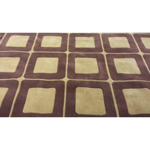 Casual Contemporary Brown / Tan Area Rug