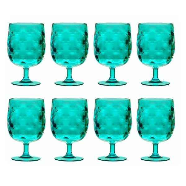 Bedell Stackable 12 oz. Acrylic Goblet (Set of 8) by Ivy Bronx