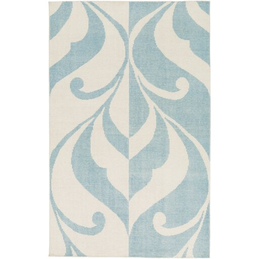 Paradox Hand-Knotted Blue/Neutral Area Rug by Candice Olson Rugs