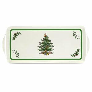 Christmas Tree Melamine Sandwich Platter