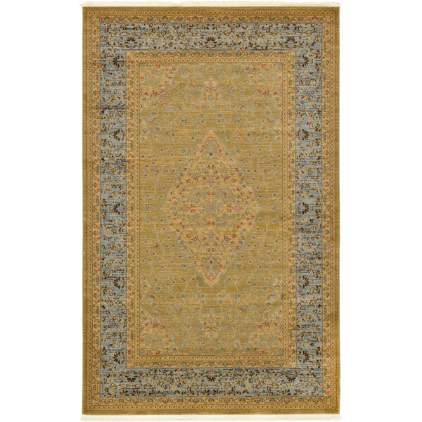 Fonciere Light Brown Area Rug by World Menagerie