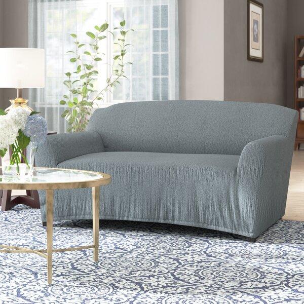 T-Cushion Loveseat Slipcover By Ebern Designs