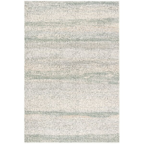 Vesper Beige/Light Sage Area Rug by Highland Dunes