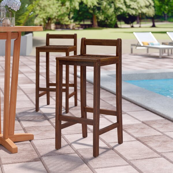 Twana 30 Patio Bar Stool (Set of 2) by Beachcrest Home
