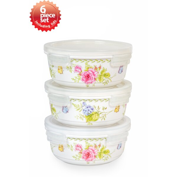 Ashley Round 3 Container Food Storage Set by Lock & Lock