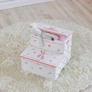 Swan Lake Step Stool with Storage by Fantasy Fields