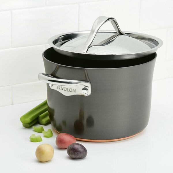 Nouvelle 4 qt. Hard Anodized Soup Pot with Lid by Anolon