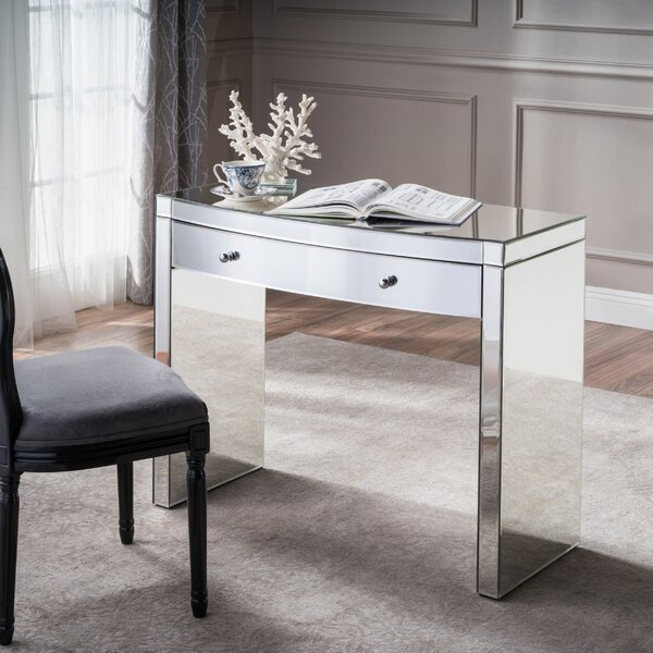 Piqua Glass Desk