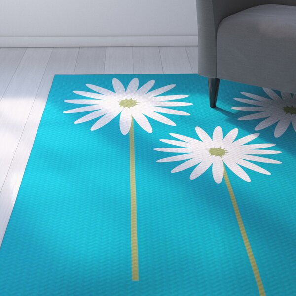 Omar Caribbean Blue Indoor/Outdoor Area Rug by August Grove