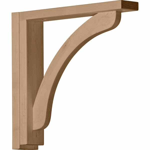 Reece 12 1/4H x 2 1/2W x 12 3/4D Shelf Bracket in Rubberwood by Ekena Millwork