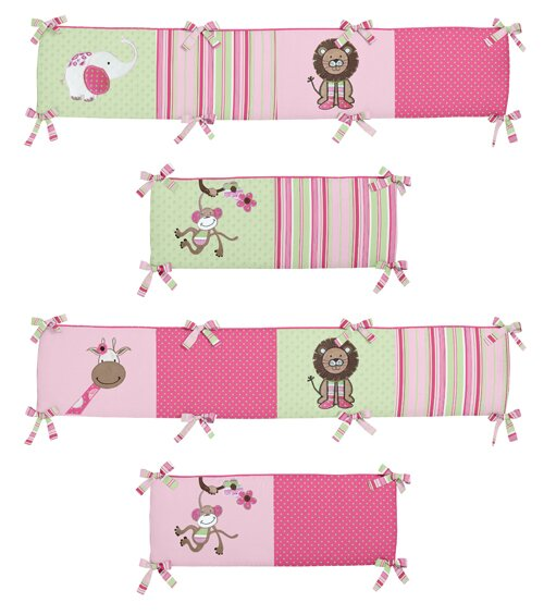 Jungle Friends Crib Bumper by Sweet Jojo Designs