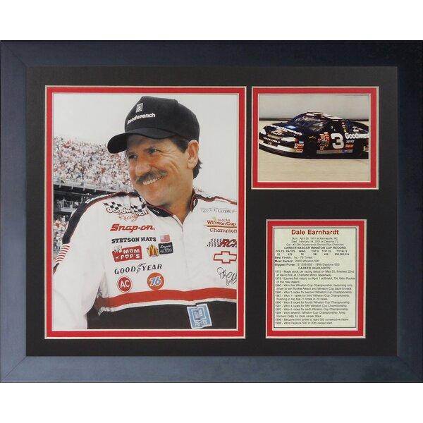NASCAR Dale Earnhardt Framed Photographic Print by Legends Never Die