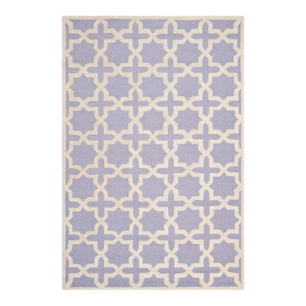 Harbin Hand-Tufted Wool Lavender/Ivory Area Rug by Brayden Studio