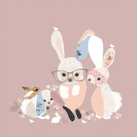 Bunny Business Canvas Art by Oopsy Daisy